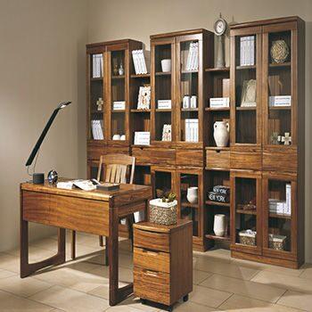 Конструкция книжных полок американской вишни деревянная - ко.