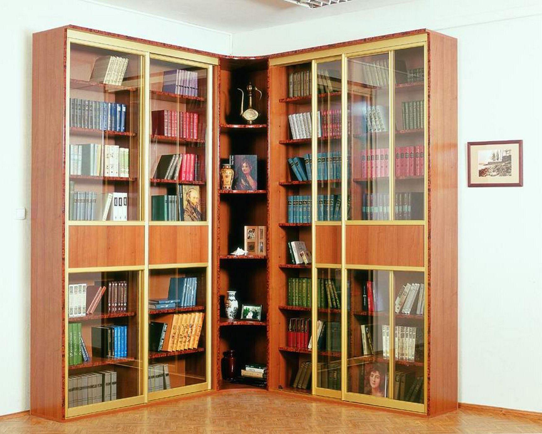 Угловые книжные шкафы своими руками